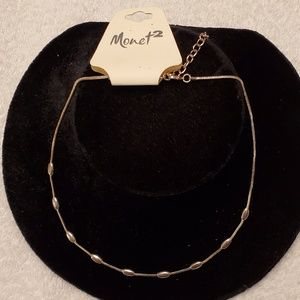Monet 2 Ladies silver necklace NWT